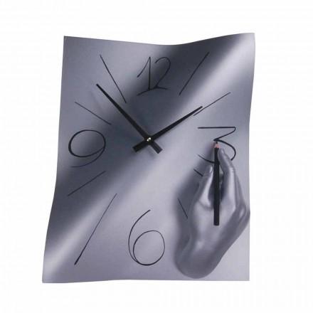 Reloj de pared de resina decorado a mano Made in Italy - Libia