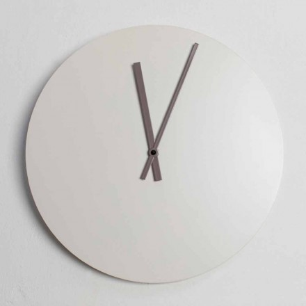 Reloj de pared de diseño industrial moderno a color Made in Italy - Fobos