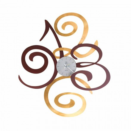 Reloj de pared de diseño en hierro coloreado hecho en Italia - Fiordaliso