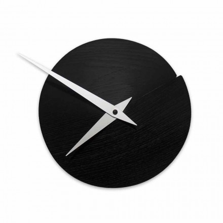 Reloj de pared redondo Diámetro 19.5 cm en madera Made in Italy - Cratere