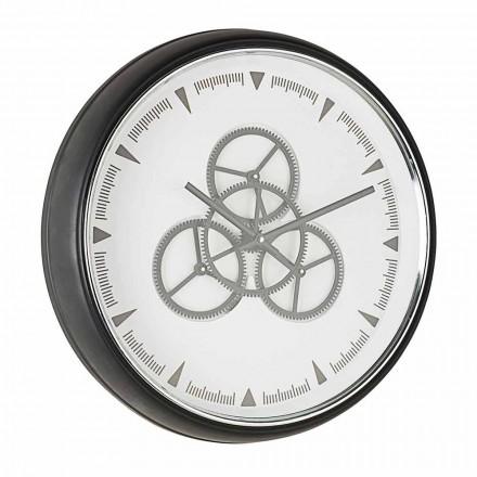 Reloj de pared de 50 cm de diámetro en acero y cristal Homemotion - Severio