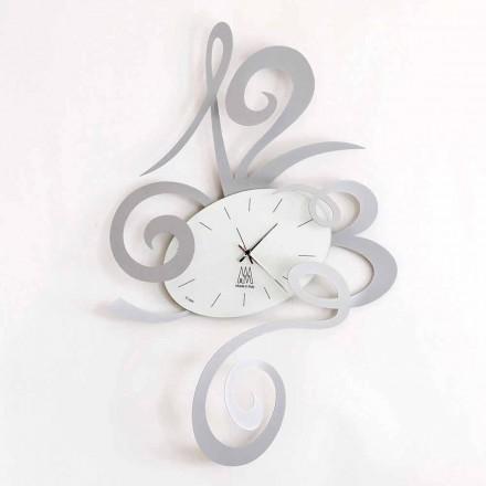 Reloj de pared en hierro negro, aluminio o rojo Made in Italy - Rosbif