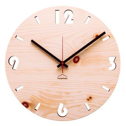 Reloj de pared en madera de pino suizo fabricado en Italia Andrea.