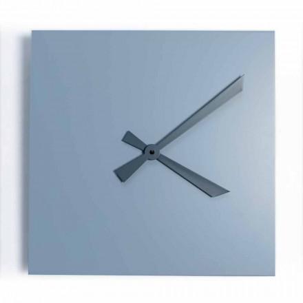 Reloj de pared cuadrado industrial y moderno de diseño italiano - Titán