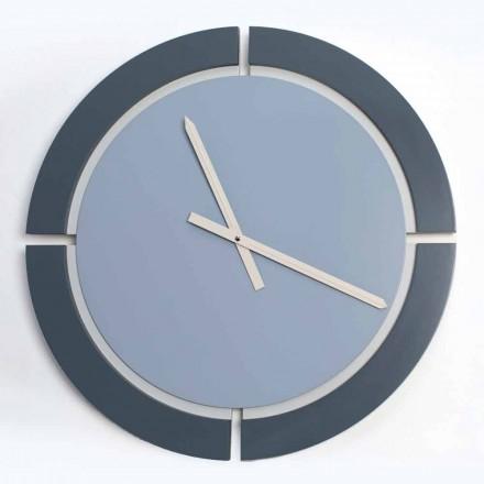Reloj de pared redondo moderno en blanco azul Avio - Savio