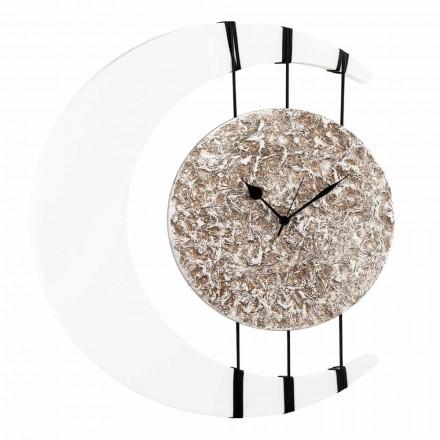 Reloj de pared suspendido en cuerdas de diseño realizado en Italia Jilly