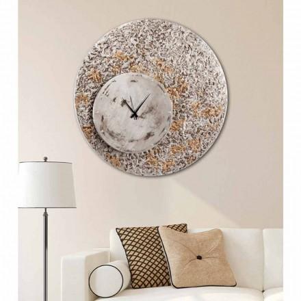 Reloj de pared en dos niveles de diseño realizado en Italia Eccli