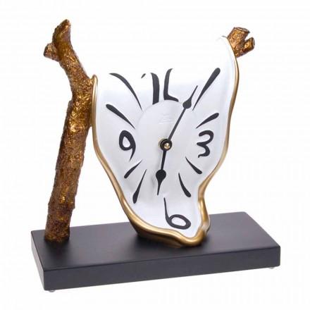 Reloj de mesa de diseño moderno en resina pintada a mano Made in Italy - Cian