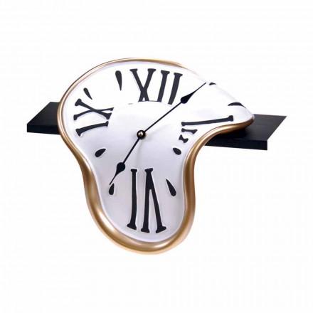 Reloj de mesa en resina decorado a mano Made in Italy - Corin