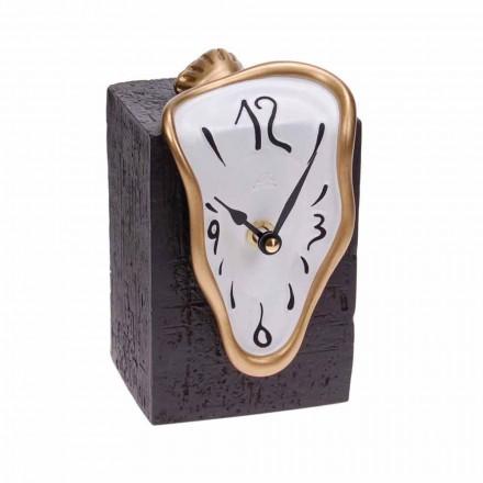 Reloj de mesa moderno con mecanismo de cuarzo Made in Italy - Figaro