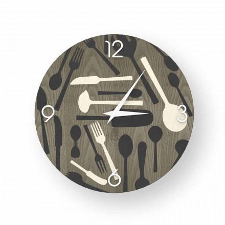 Reloj de pared Ispra de madera, hecho en Italia.