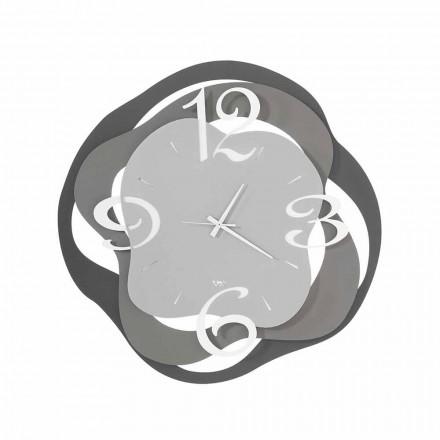 Reloj de pared de diseño moderno en hierro hecho en Italia - Gertrude