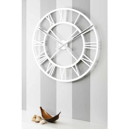 Reloj de pared Shabby Chic grande en madera de diseño vintage - Arrigo