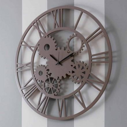 Reloj de pared grande y redondo de madera en mal estado - Mecanismo