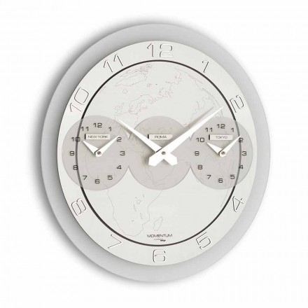 Reloj moderno de pared modelo Dininho Tris
