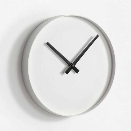 Reloj de pared de diseño redondo en metal pintado mate - Orogio