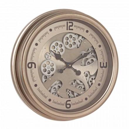 Reloj de Pared Redondo en Acero y Mdf Diseño Clásico Homemotion - Tapiz