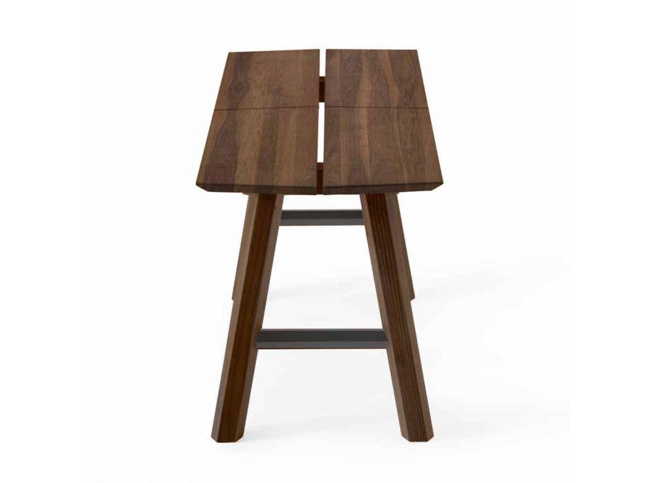 Banco de diseño moderno en madera de fresno con asiento chapado - Andria