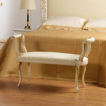 Mat banco clásico de marfil del diseño con decoraciones de oro Tyler