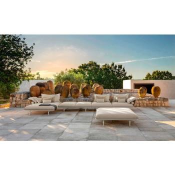 Banco de jardín moderno de aluminio y tela - Cruise Alu by Talenti