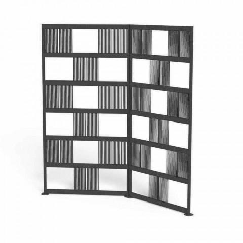 Biombo exterior de aluminio y cuerda en 2 alturas - Scacco by Talenti