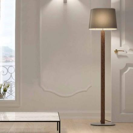 Lámpara de pie de diseño moderno en metal con pantalla de tela Made in Italy - Jump