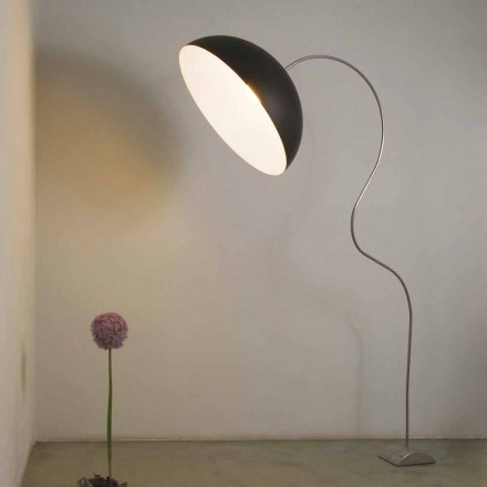 Moderna lámpara de pie H210cm In-es.artdesign Media luna color nebulita