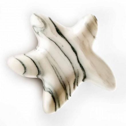Platillo de mármol moderno en forma de estrella de mar Made in Italy - Ticcio