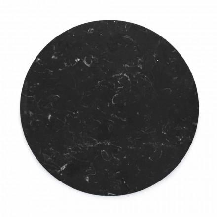 Plato redondo de queso en mármol blanco o negro hecho en Italia - Kirby