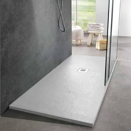 Plato De Ducha De Diseño Moderno 160x80 En Resina Efecto Pizarra - Sommo