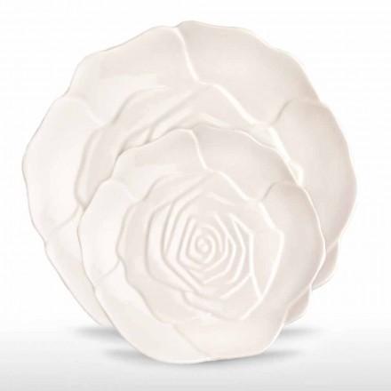 Plato de porcelana de 12 piezas, elegante, decorado a mano - Rafiki