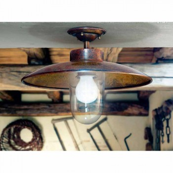 Lámpara de techo de latón, cobre y vidrio Nabucco Aldo Bernardi