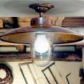 Plafón de latón cobre y cristal modelo Nabucco