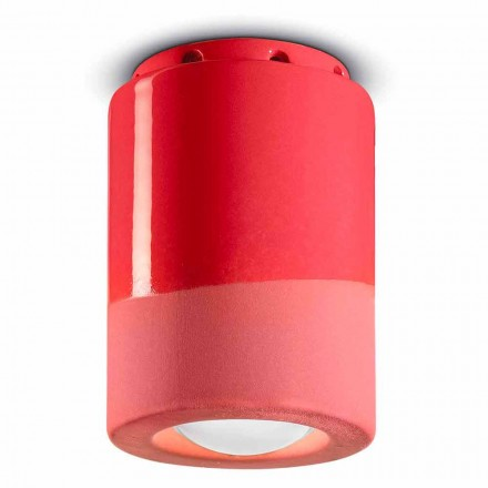 Lámpara de techo vintage de cerámica Made in Italy - Ferroluce Pi