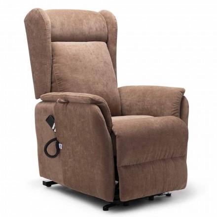 Sillón de alta calidad con sistema de elevación de persona con 2 motores y ruedas - Juliette