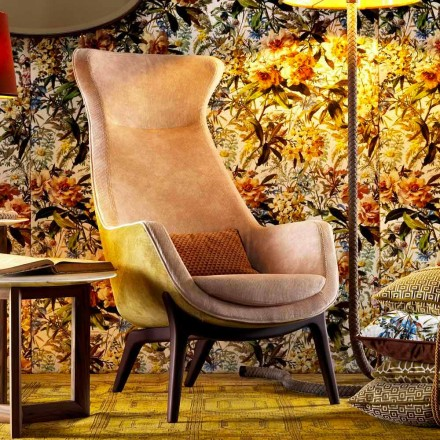 Sillón Bergerie en tejido de diseño Grilli Wilde hecho en Italia
