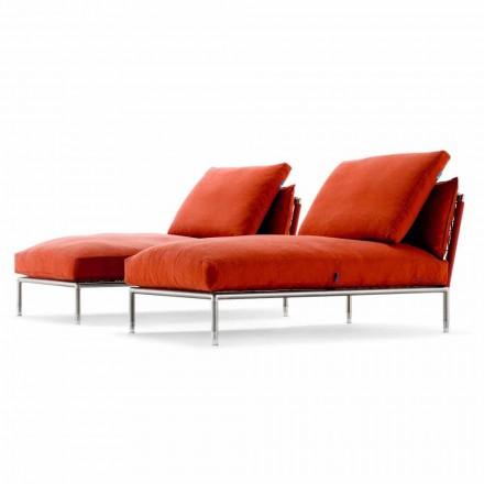 Sillón Chaise Longue de diseño moderno para jardín Made in Italy - Ontario1