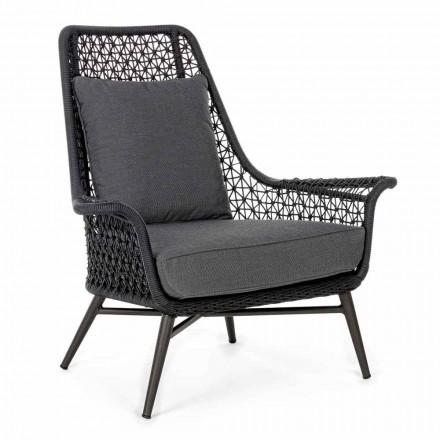 Sillón de exterior de diseño moderno en aluminio y tela Homemotion - Nigerio