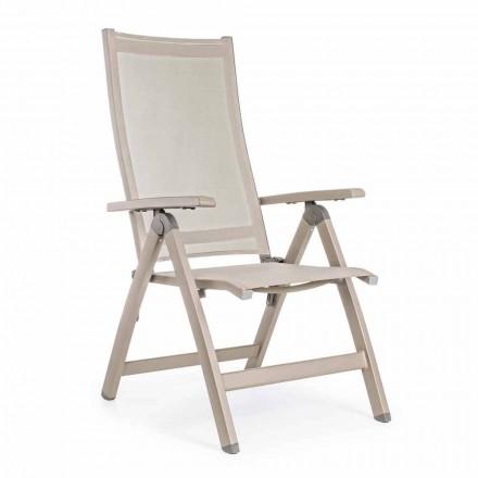 Sillón de exterior reclinable con estructura de aluminio, Homemotion - Ursula