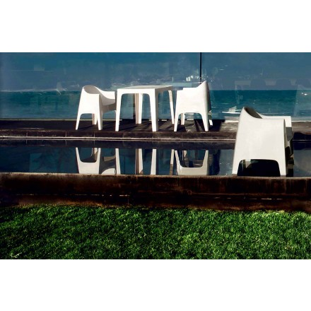 Sillón de exterior de diseño moderno en polipropileno, Solid by Vondom