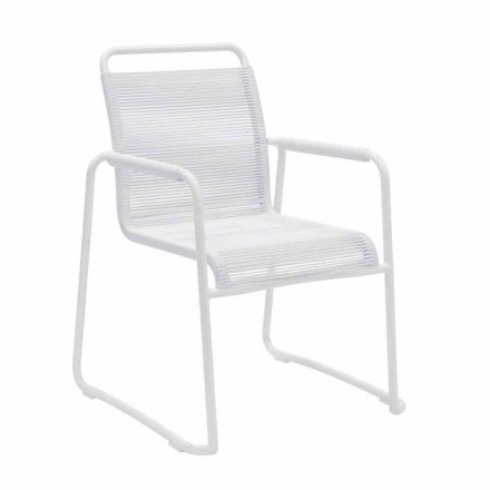 Silla de jardín de aluminio blanco de diseño moderno apilable - Wisky