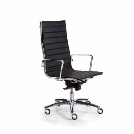 Sillón ejecutivo de oficina en piel o tejido light luxy.