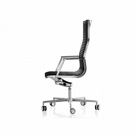 Sillón ergonómico de oficina en piel o tejido Nulite Luxy.