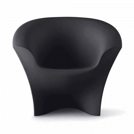 Sillón de diseño para exteriores en polietileno mate o lacado Made in Italy - Conda