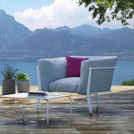 Sillón de diseño moderno y Made in Italy para exterior o interior - Carminio1