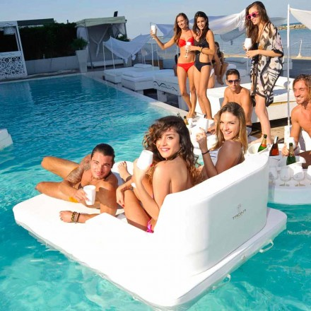 Sillón flotante para piscina con doble asiento Trona Magnum