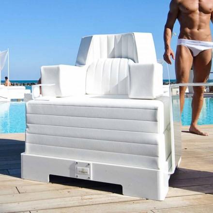 Sillón flotante blanco de diseño Trona Luxury made in Italy
