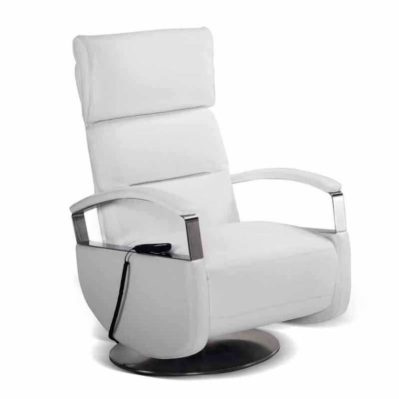 sillón giratorio 2 modernos motores de diseño realizados en Italia Cassia
