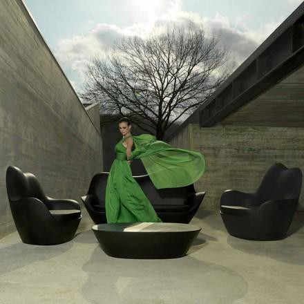 Sillón de jardín moderno, hecho con polietileno, Sabinas by Vondom