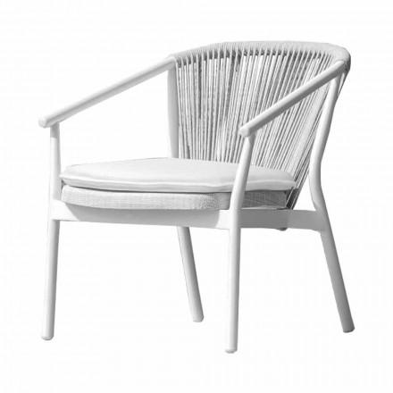 Sillón Garden Lounge tapizado en tela y aluminio - Smart by Varaschin